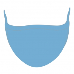 Elite Face Mask Sport - Light Blue Manufacturers in Denmark